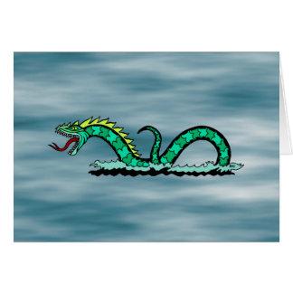 Tarjeta de la serpiente de mar