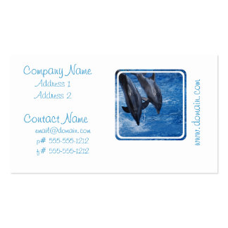 Tarjeta de la show business del delfín tarjetas de negocios