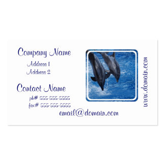 Tarjeta de la show business del delfín tarjetas de visita