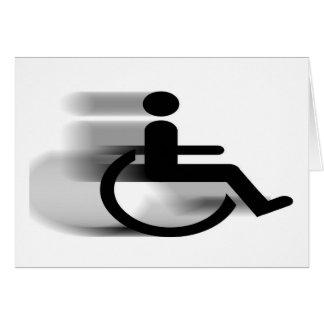 Tarjeta de la silla de ruedas que apresura