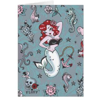 Tarjeta de la sirena de Molly de la pelusa