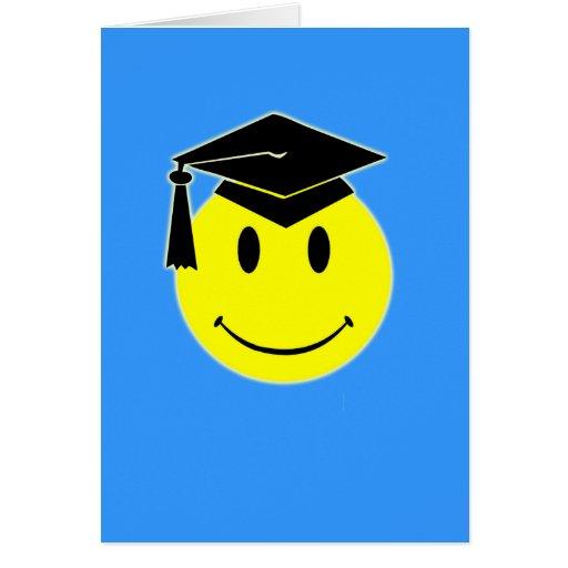 Tarjeta de la sonrisa de la graduación