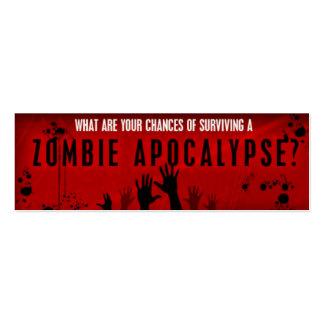 Tarjeta de la supervivencia del zombi tarjetas de visita mini