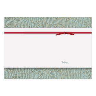 Tarjeta de la tabla - boda doble chino de la felic tarjetas de visita