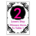 Tarjeta de la tabla de Bunco - #2