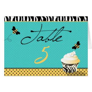 Tarjeta de la tabla de la abeja del cumpleaños