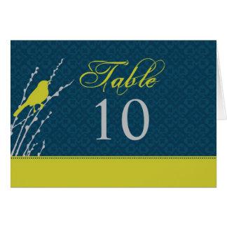 Tarjeta de la tabla de la elegancia de la caída