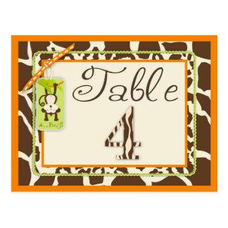 Tarjeta de la tabla de la fiesta de bienvenida al  tarjeta postal