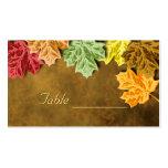 Tarjeta de la tabla de las hojas de otoño tarjeta de negocio