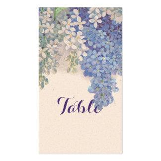 Tarjeta de la tabla de las lilas del vintage plantilla de tarjeta personal