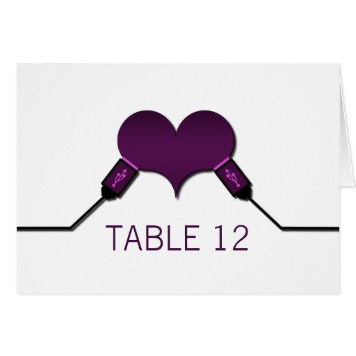 Tarjeta de la tabla de USB de la conexión del amor