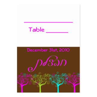 Tarjeta de la tabla del boda de Mitzvah del palo d Plantilla De Tarjeta De Visita