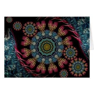 Tarjeta de la tapicería del fractal