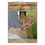 Tarjeta de la tarjeta del día de San Valentín de D