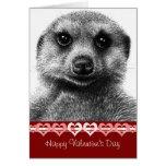 Tarjeta de la tarjeta del día de San Valentín de M