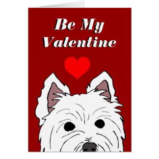 Tarjeta de la tarjeta del día de San Valentín de W