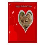 Tarjeta de la tarjeta del día de San Valentín del