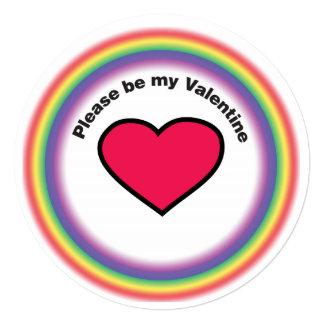 """Tarjeta de la tarjeta del día de San Valentín del Invitación 5.25"""" X 5.25"""""""