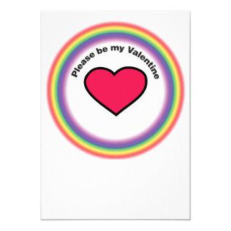 """Tarjeta de la tarjeta del día de San Valentín del Invitación 5"""" X 7"""""""