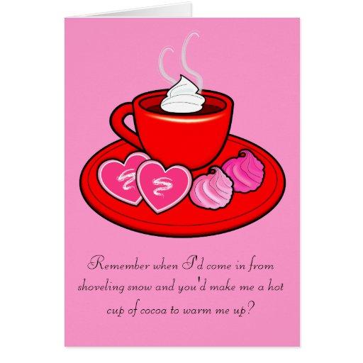 Tarjeta de la tarjeta del día de San Valentín para