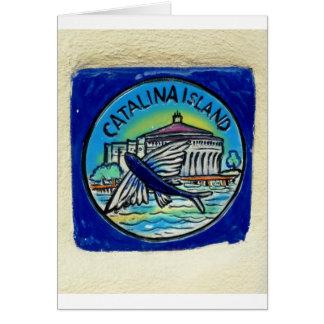 Tarjeta de la teja de Catalina