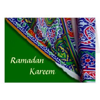 Tarjeta de la tienda del Ramadán