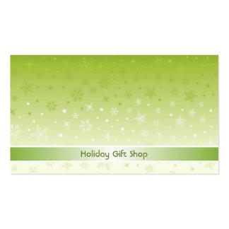 Tarjeta de la tienda del regalo de vacaciones tarjeta de negocio