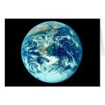 Tarjeta de la tierra del planeta