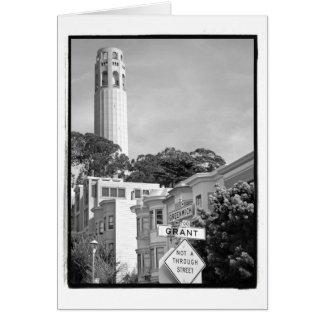 Tarjeta de la torre de Coit