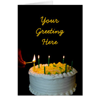 Tarjeta de la torta de cumpleaños