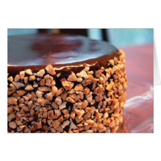 Tarjeta de la torta del brownie del anacardo del c