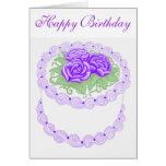 Tarjeta de la torta del feliz cumpleaños