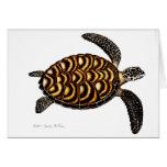Tarjeta de la tortuga de mar de Hawksbill