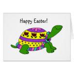 Tarjeta de la tortuga de Pascua