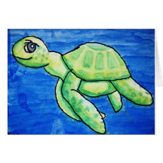 Tarjeta de la tortuga del mar de Dina
