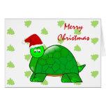 Tarjeta de la tortuga del navidad