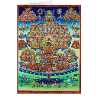 tarjeta de la tradición del kagyu del árbol del re