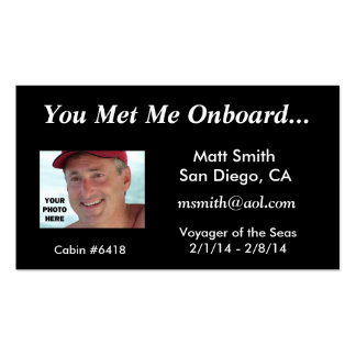 Tarjeta de la travesía tarjetas de visita