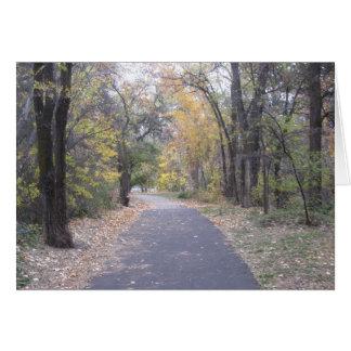 Tarjeta de la trayectoria del paseo de la naturale