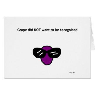 Tarjeta de la uva
