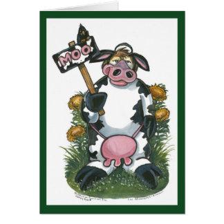 Tarjeta de la vaca
