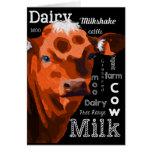Tarjeta de la vaca lechera