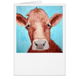 ¡Tarjeta de la vaca - modifiqúela para requisitos