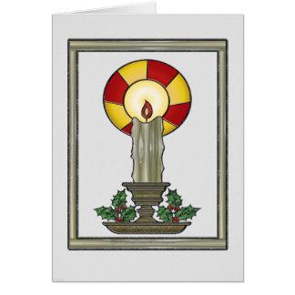 Tarjeta de la vela de Yule