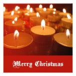 Tarjeta de la vela del navidad comunicados
