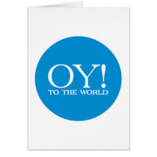 ¡Tarjeta de la venta - Oy! al mundo (grande) Tarjeta De Felicitación