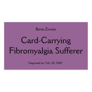 Tarjeta de la víctima del Fibromyalgia Tarjeta-Que Tarjetas De Visita