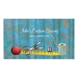 Tarjeta de la visita de costura de encargo del Ada Plantillas De Tarjetas Personales