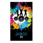 Tarjeta de la visita de DJ de la gente del fiesta Tarjetas De Visita