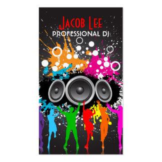 Tarjeta de la visita de DJ de la gente del fiesta Plantilla De Tarjeta Personal